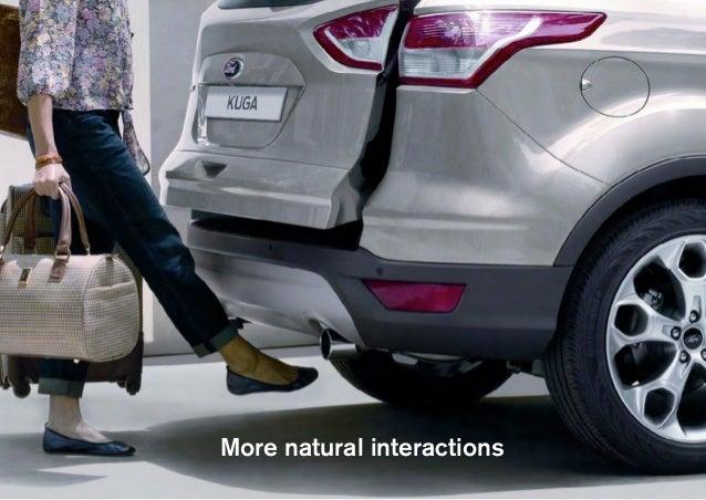 More visceral interactions Source: Jaguar Land Rover Bike Sense. Seat shoulder taps the  rings a bicycle bell if it senses...