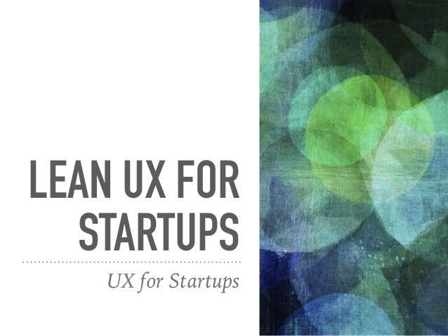 LEAN UX PROCESS IMAGE: LUXR.COM