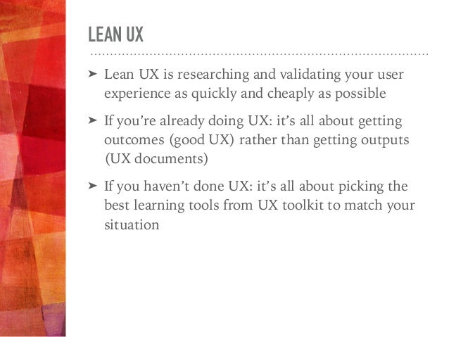 UX TOOLKIT UX Application for Startups