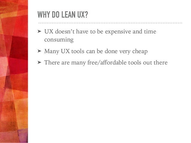 USER RESEARCH Understand Your Users & Their Needs