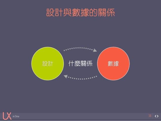 in China  設計與數據的關係  38  設計什麼關係數據