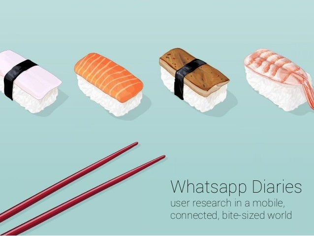 Whatsapp Diaries user research in a mobile, connected, bite-sized world