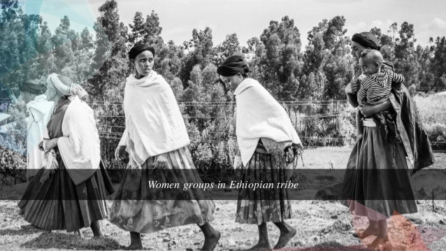 Women groups in Ethiopian tribe