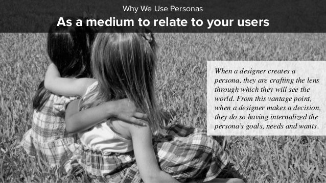 As a medium to relate to your users Why We Use Personas When a designer creates a persona, they are crafting the lens thro...