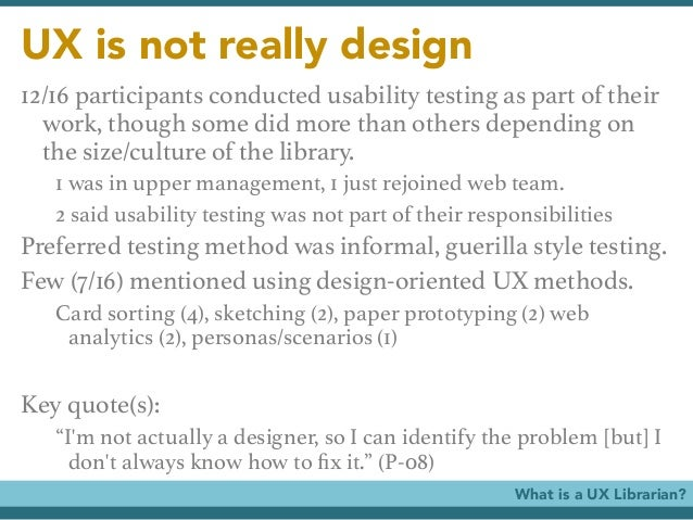 Usability and the mobile web a lita guide ebook array ux librarians user advocates user researchers usability evaluators u2026 rh slideshare net fandeluxe Images
