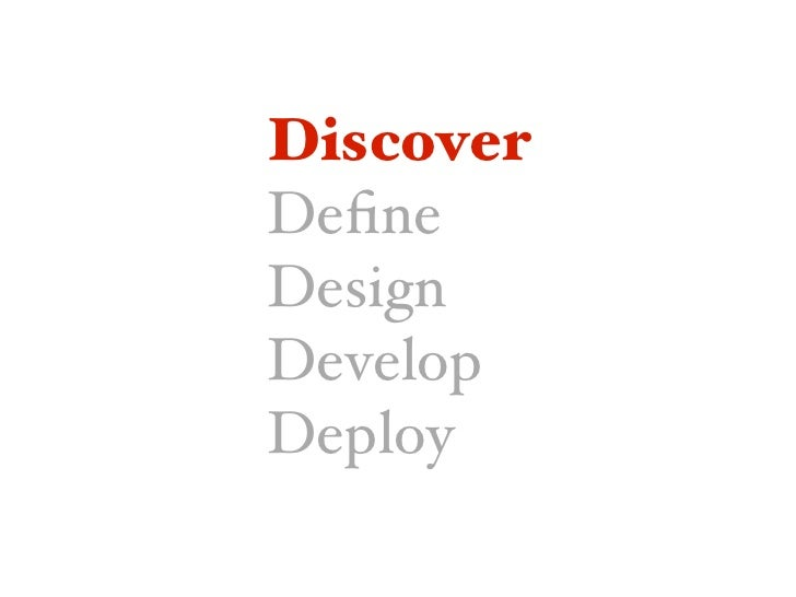 Discover CONTENT• Business ROT  Content objectives       • Current technology                             Stakeholder agen...