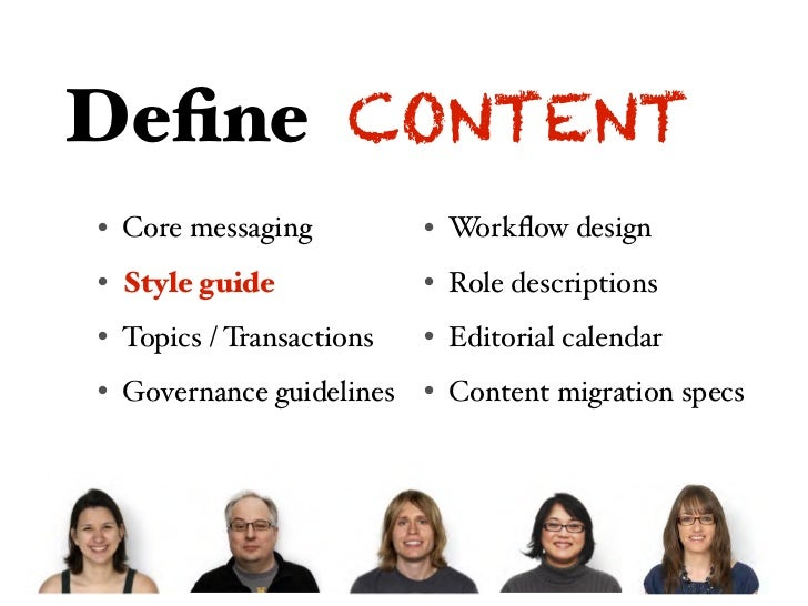 Design CONTENT• Messaging hierarchy   • Workflow design• Page tables  Page tables           • Role descriptions• Content at...