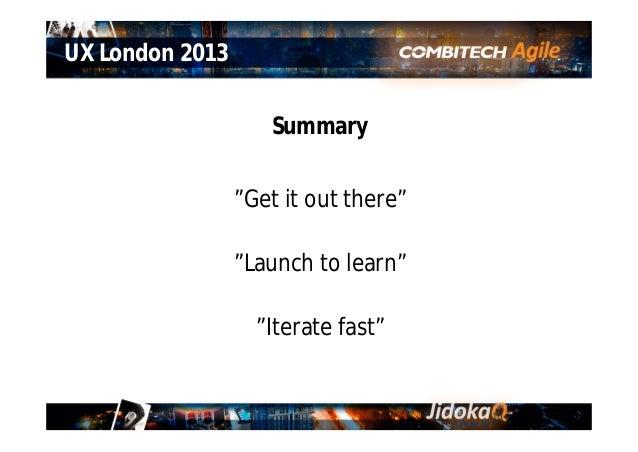 UX London 2013