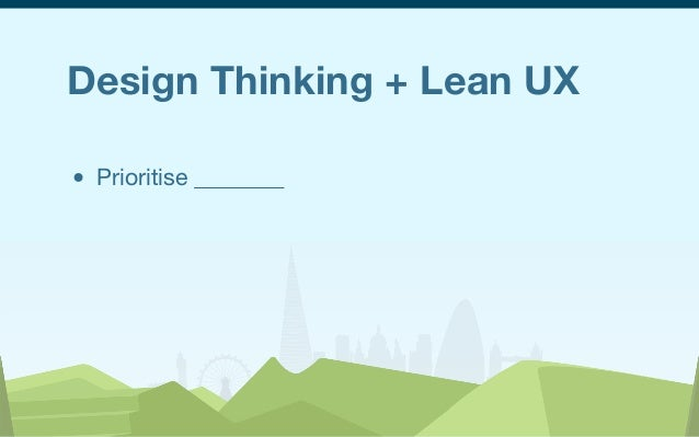 UX London 2013 - Notes and Key Themes