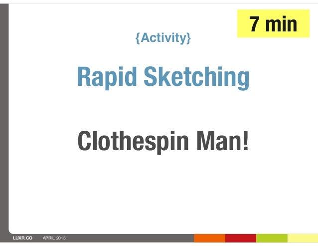 {Activity}                                         7 min                       Rapid Sketching                       Cloth...