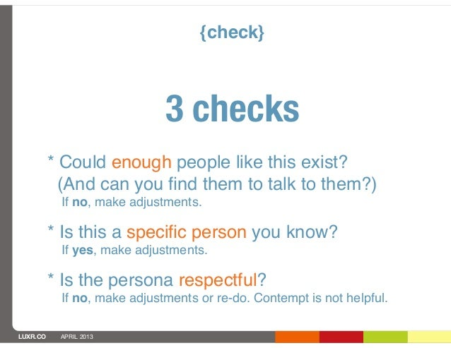 {check}                             3 checks          * Could enough people like this exist?            (And can you find t...