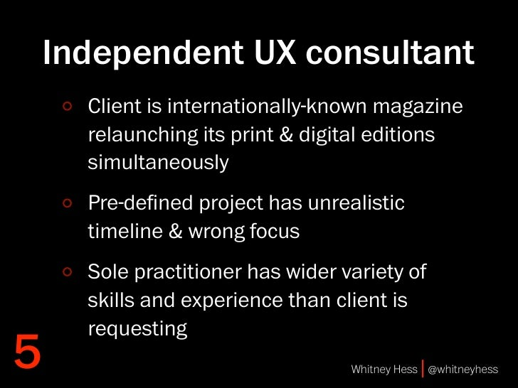 Independent UX consultant     Client is internationally-known magazine     relaunching its print & digital editions     si...