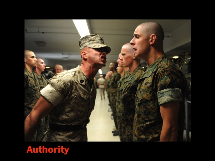 Authority We have a deep-seated obedience to authority Trained from birth that obedience to proper authority is right and ...