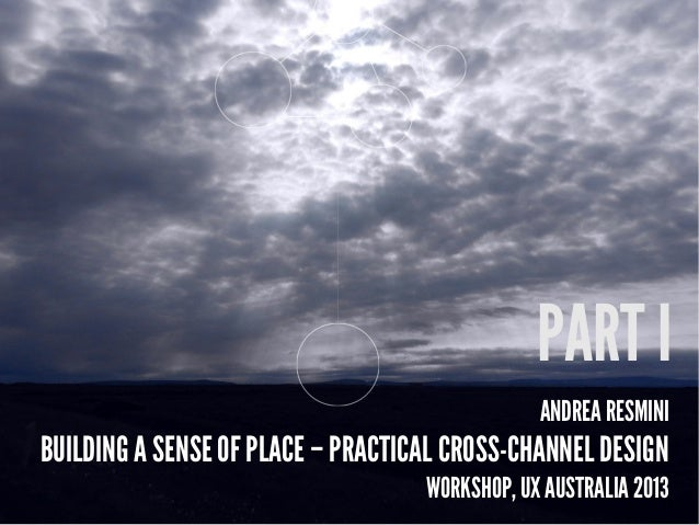 ANDREA RESMINI BUILDING A SENSE OF PLACE – PRACTICAL CROSS-CHANNEL DESIGN WORKSHOP, UX AUSTRALIA 2013 PART I
