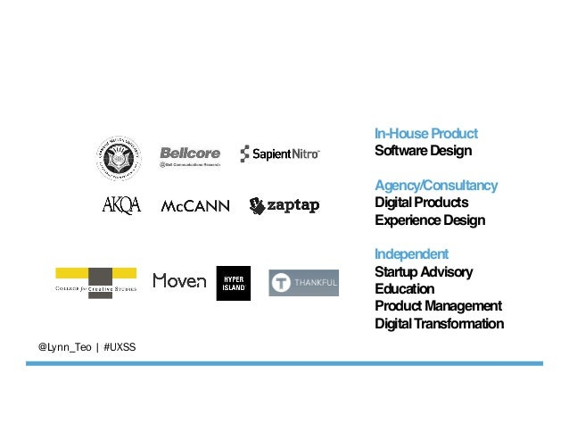 In-HouseProduct SoftwareDesign  Agency/Consultancy DigitalProducts ExperienceDesign  Independent StartupAdvisory ...
