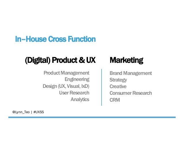 (Digital) Product & UX Marketing ProductManagement Engineering Design(UX,Visual,IxD) UserResearch Analytics BrandManagemen...