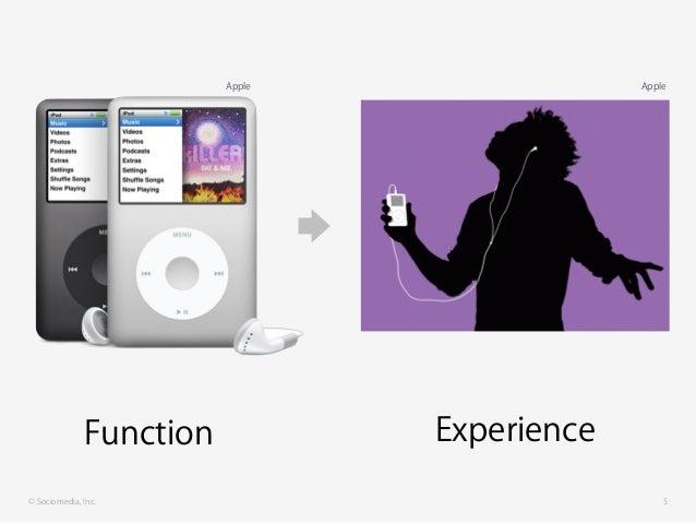 © Sociomedia, Inc. 5 Function Experience AppleApple