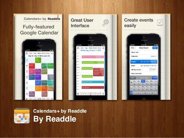 UX Meetup #2 : Talk about your best mobile calendar