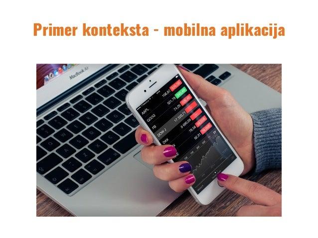 Primer konteksta - mobilna aplikacija