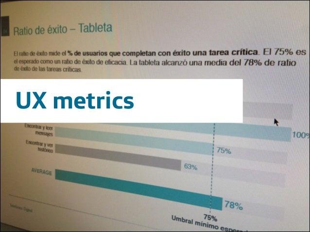 UX metrics  Área Company Name  !1