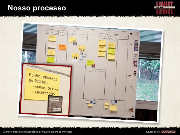 Nosso processo • Tudo é bastante dinâmico, pois adotamos metodologias     ágeis de desenvolvimento  •...