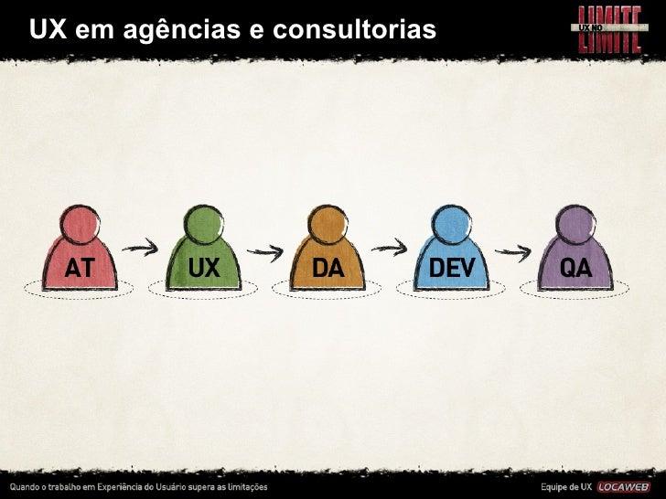 UX em agências e consultorias•   Em uma agência, o processo de desenvolvimento acontece      como em ...