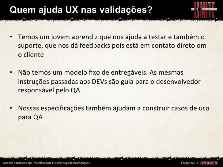 Bom relacionamento entre UX e QA