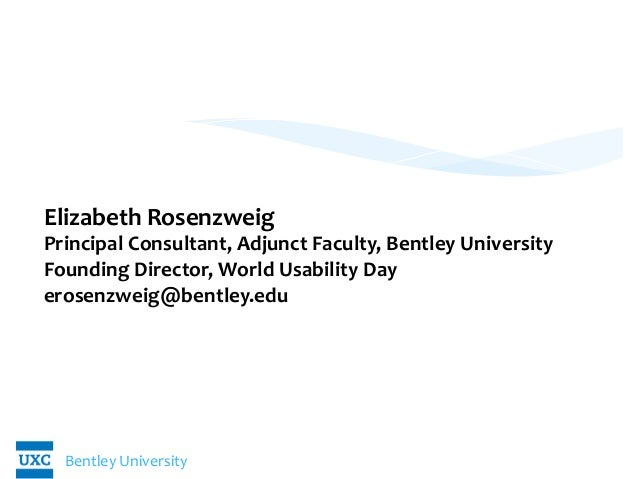 Bentley	   University	    UX	   of	   Medicare:	   	    Building	   Strategic	   Models	    	    	    	    Elizabeth	   Ro...