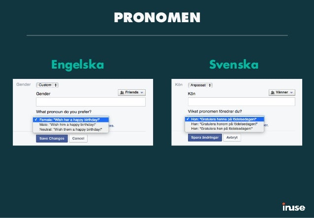 PRONOMEN Engelska Svenska