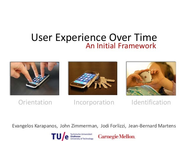 User Experience Over Time                                 An Initial Framework  Orientation               Incorporation   ...