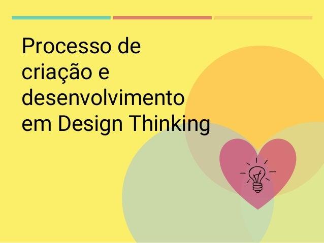 Processo de criação e desenvolvimento em Design Thinking