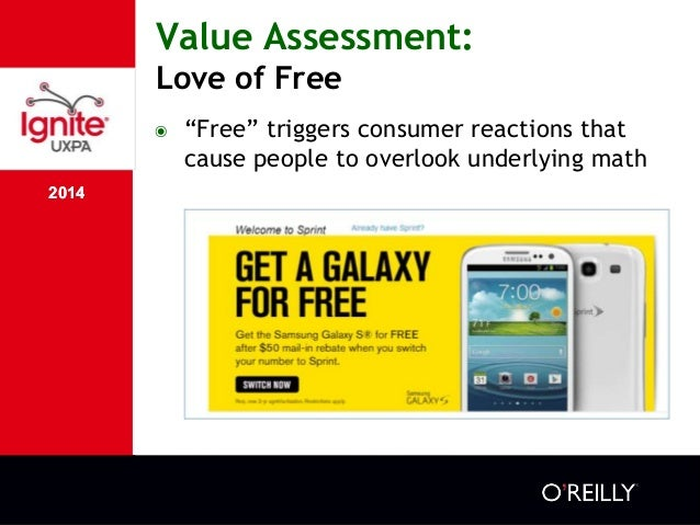"""2014 Value Assessment: Love of Free 2014 ๏ """"Free"""" triggers consumer reactions that cause people to overlook underlying math"""