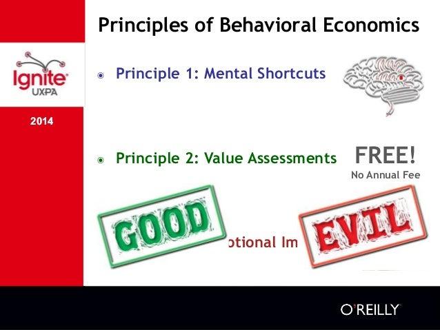 2014 Principles of Behavioral Economics 2014 ๏ Principle 1: Mental Shortcuts ๏ Principle 2: Value Assessments ๏ Principle ...