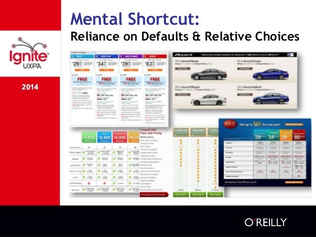 2014 Mental Shortcut: Reliance on Defaults & Relative Choices 2014 ๏ Relative choice: we value products based on compariso...