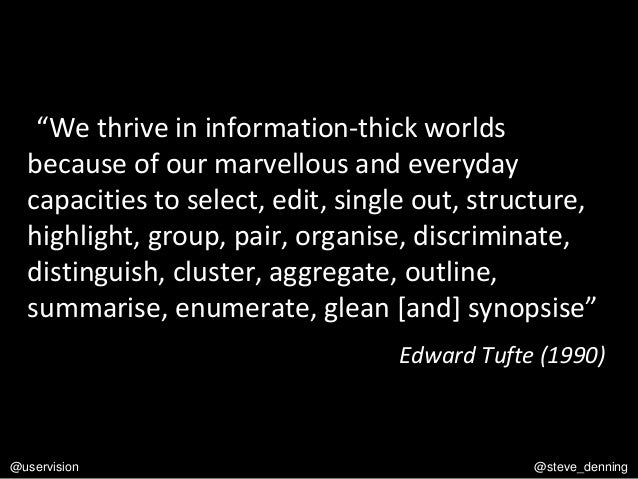 """""""We thrive in information-thick worlds because of our marvellous and everyday capacities to select, edit, single out, stru..."""