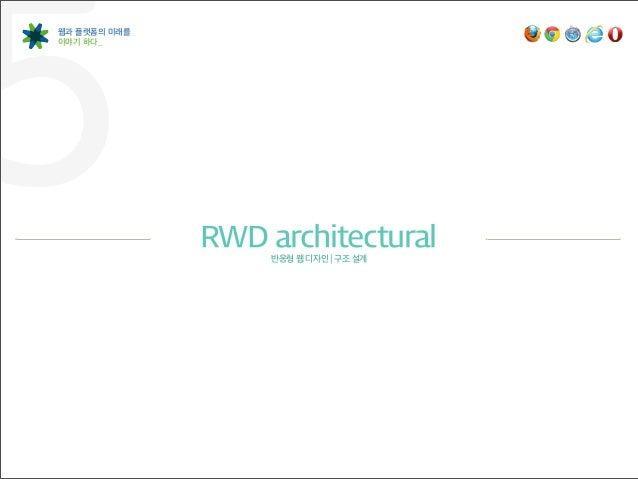 5웹과 플랫폼의 미래를이야기 하다_              RWD architectural                   반응형 웹 디자인   구조 설계