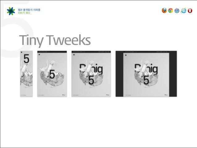 5웹과 플랫폼의 미래를이야기 하다_Tiny Tweeks