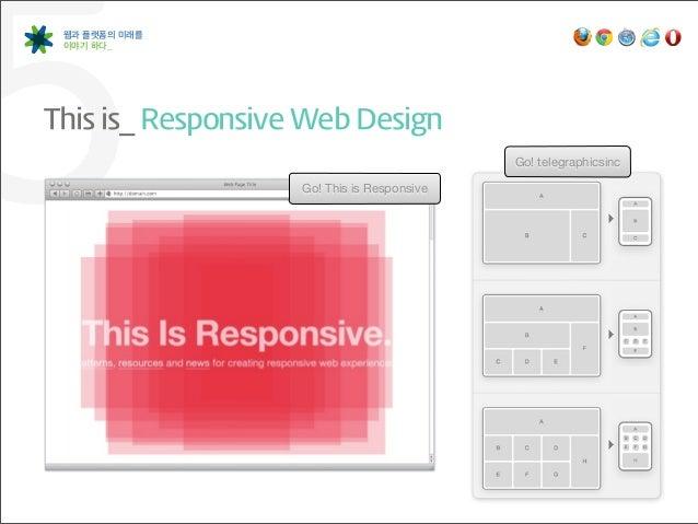 5웹과 플랫폼의 미래를 이야기 하다_This is_ Responsive Web Design                     Go! This is Responsive                         ...