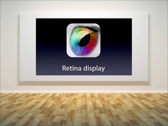 -‐         -‐표준 스크린     레티나 스크린Standard   Retina