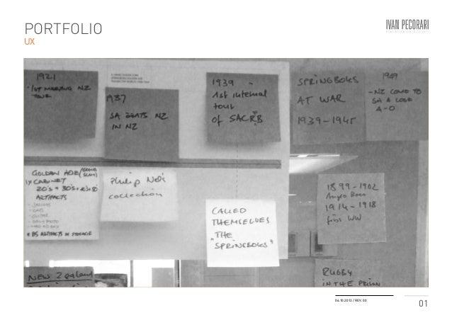 01 06.10.2013 / REV. 00 PORTFOLIO UX