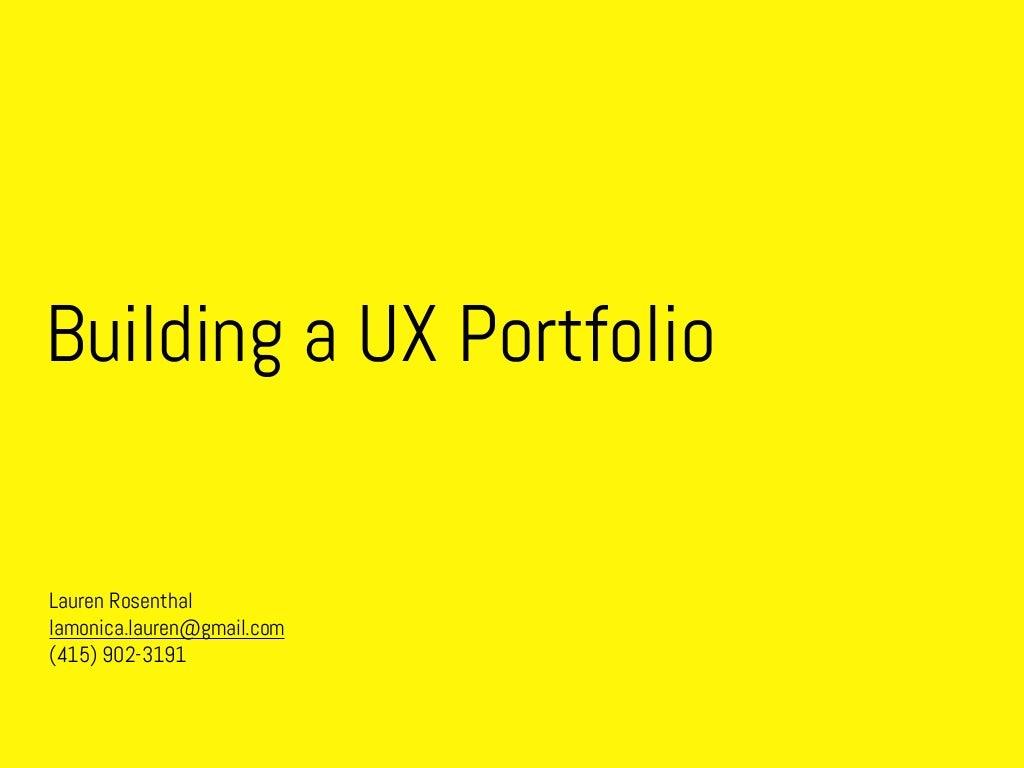 Building a UX Portfolio