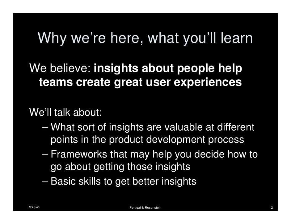 UX Process Improved: Integrating User Insight Slide 2