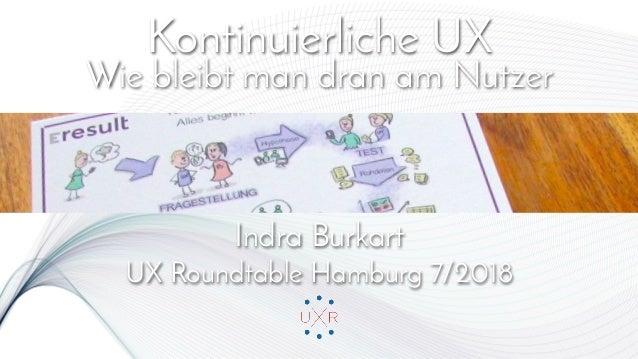 Kontinuierliche UX Wie bleibt man dran am Nutzer   Indra Burkart UX Roundtable Hamburg 7/2018