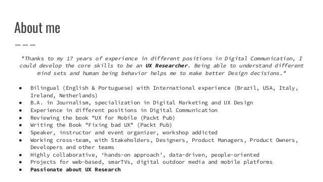UX Research by Lisandra Maioli Slide 2