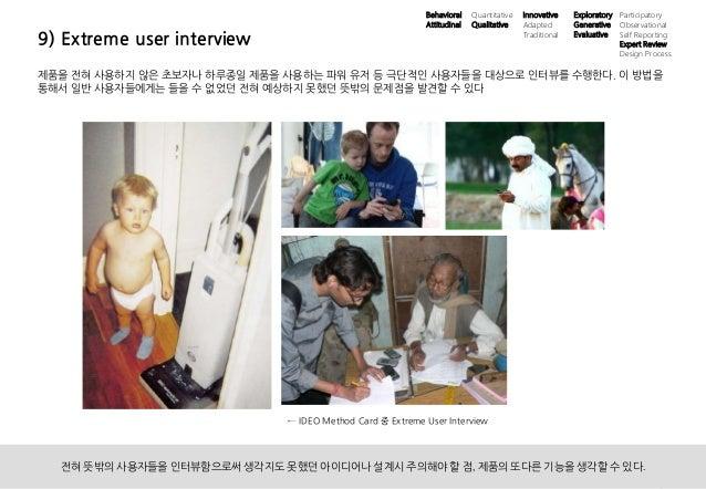 20UX 필드리서치 안내 ⓒ 2014 UX1. All rights reserved. 9) Extreme user interview 제품을 전혀 사용하지 않은 초보자나 하루종일 제품을 사용하는 파워 유저 등 극단적인 사용...