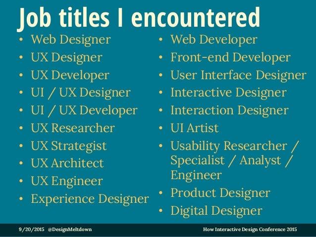 UX roles