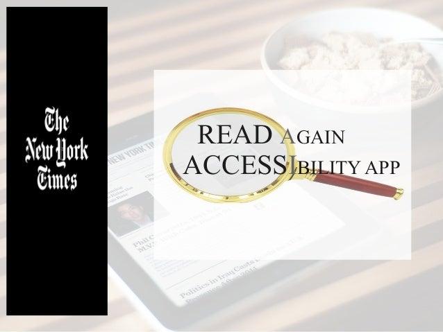 READ AGAIN ACCESSIBILITY APP