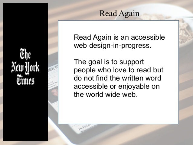 Read Again Slide 2