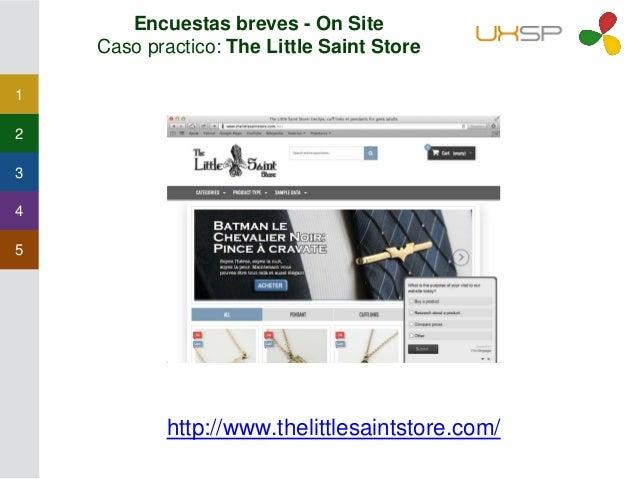1 2 3 4 5 Encuestas breves - On Site • En CRO las usamos para entender los comportamientos dentro de una página o contenid...