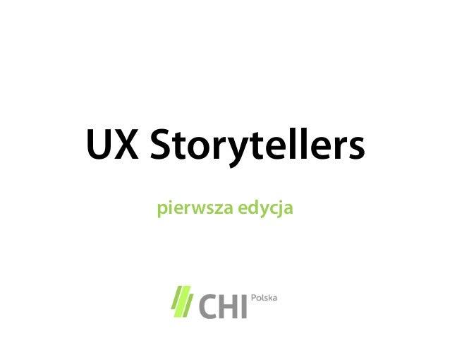 UX Storytellerspierwsza edycja